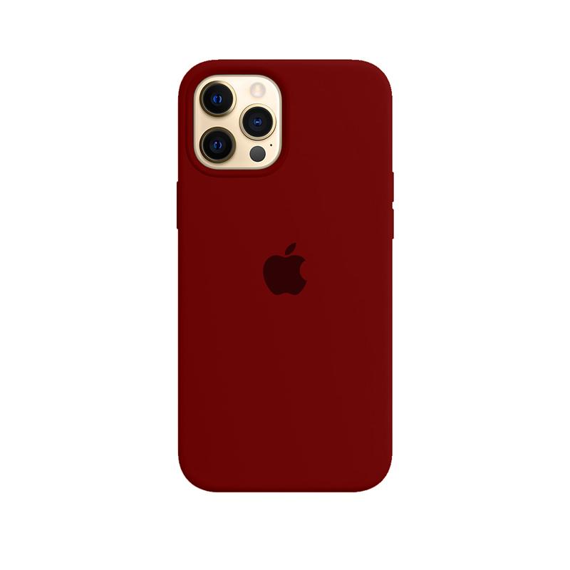 Case Capinha Vermelho Escuro para iPhone 12 Pro Max de Silicone