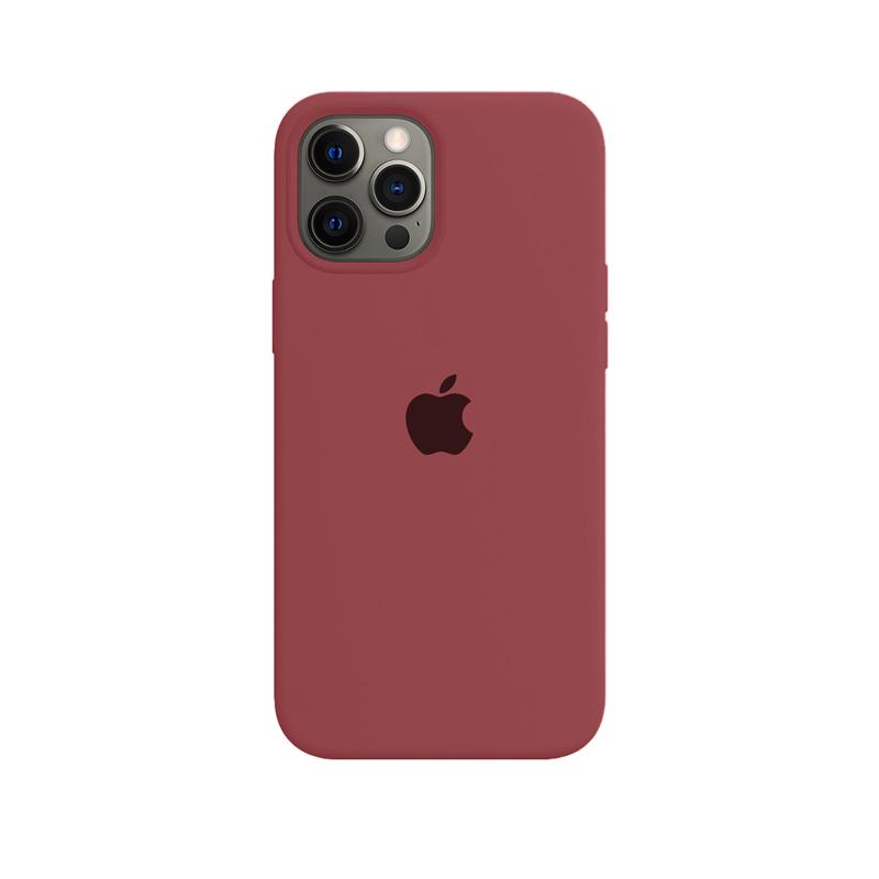 Case Capinha Vermelho Claro para iPhone 12 Pro Max de Silicone