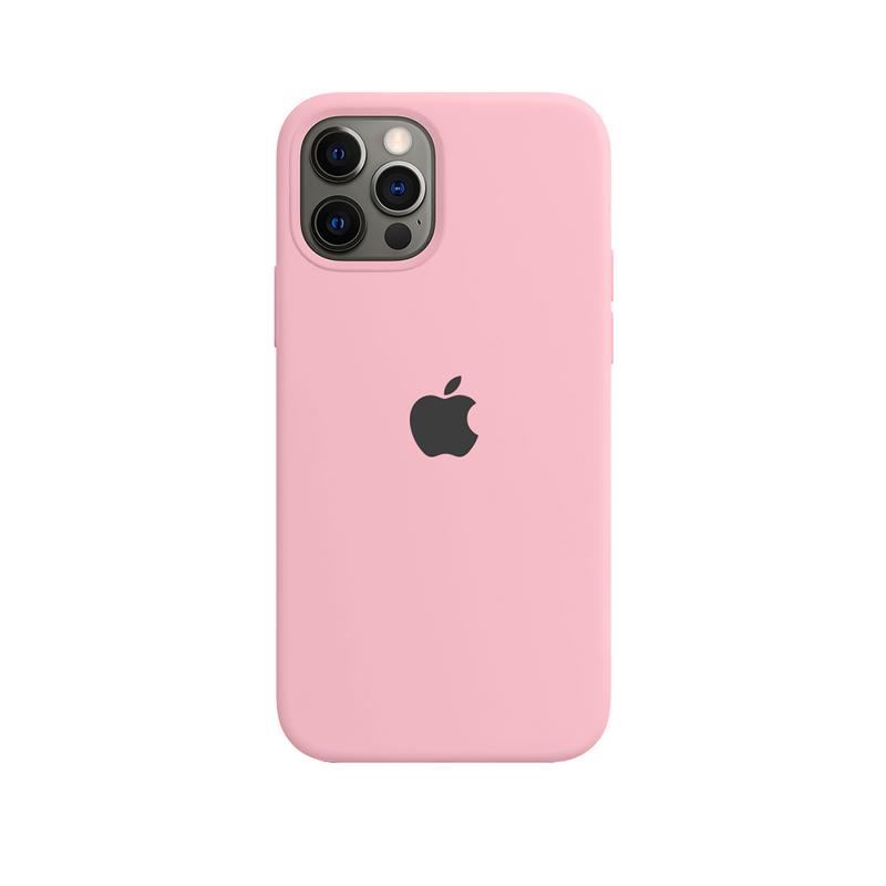 Case Capinha de Silicone Rosa Chiclete para iPhone 12 e 12 Pro