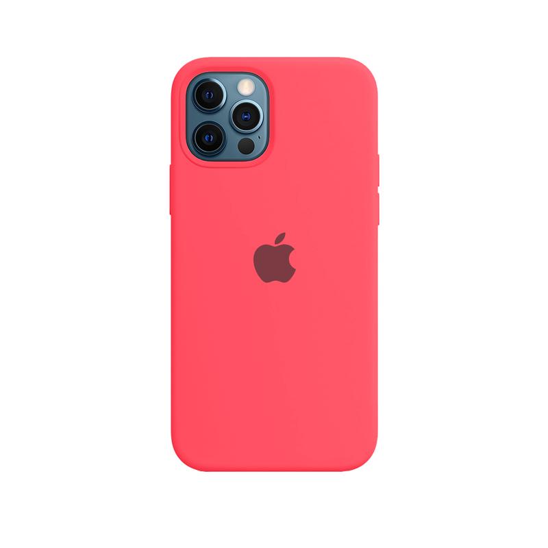 Case Capinha de Silicone Rosa Neon para iPhone 12 e 12 Pro