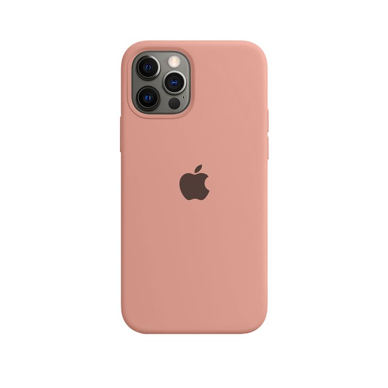 Case Capinha de Silicone Rosa Pêssego para iPhone 12 e 12 Pro