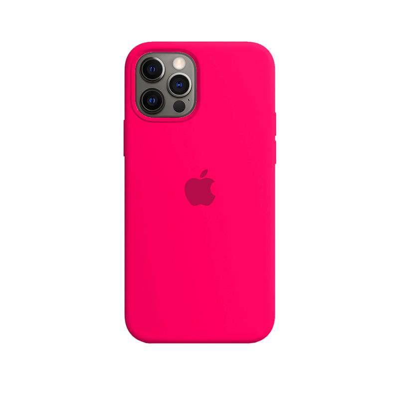 Case Capinha de Silicone Rosa Pink para iPhone 12 e 12 Pro