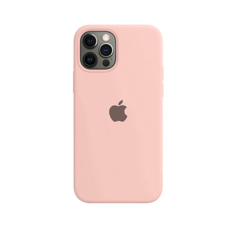 Case Capinha de Silicone Rosa para iPhone 12 e 12 Pro