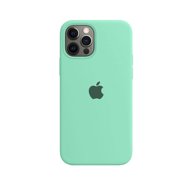 Case Capinha de Silicone Verde Água para iPhone 12 e 12 Pro