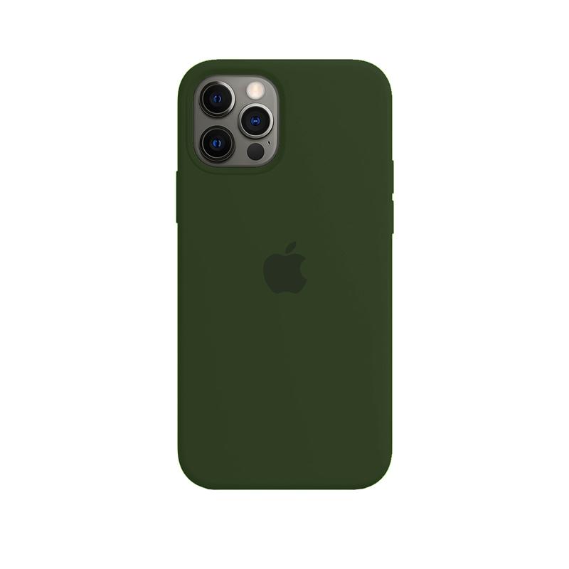 Case Capinha de Silicone Verde Escuro para iPhone 12 e 12 Pro