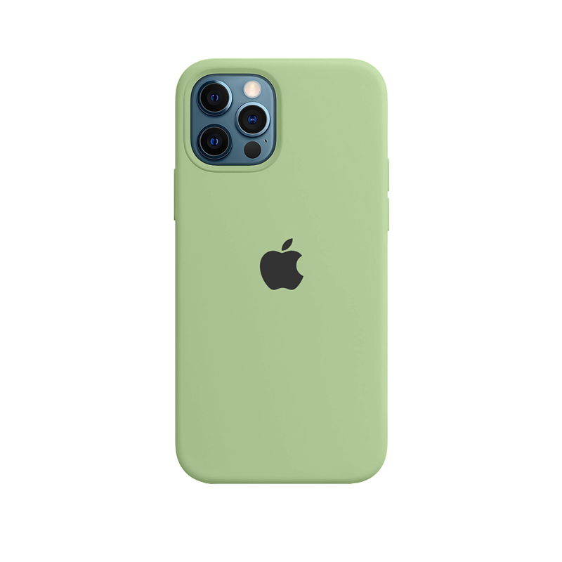 Case Capinha de Silicone Verde Menta para iPhone 12 e 12 Pro