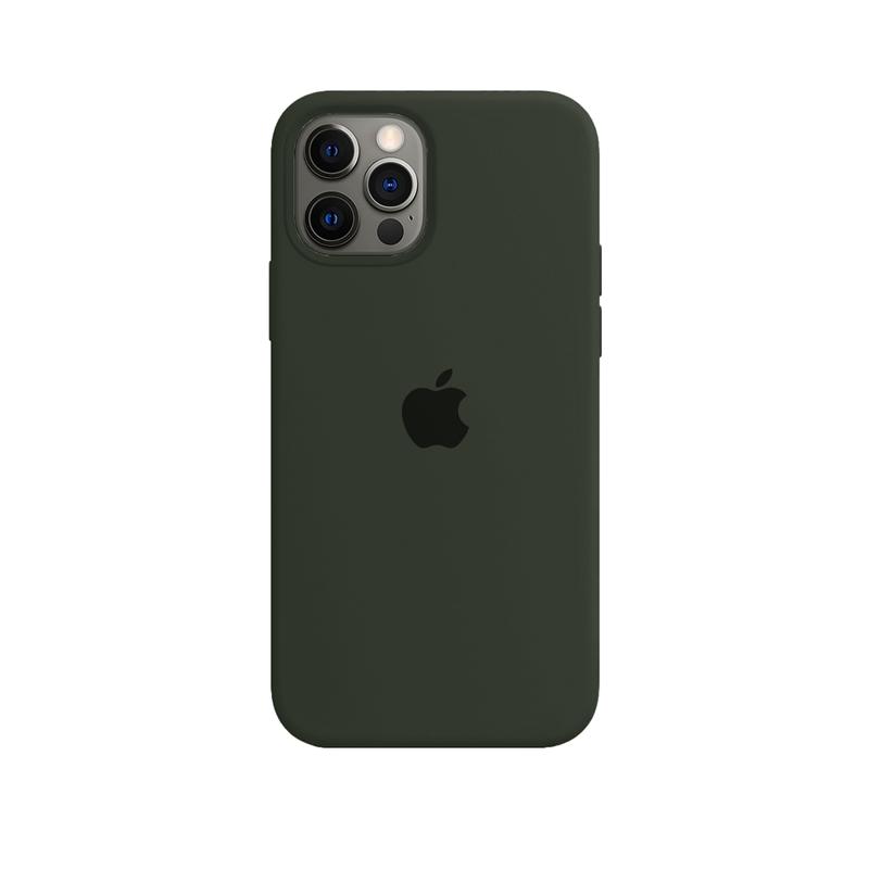 Case Capinha de Silicone Verde Musgo para iPhone 12 e 12 Pro