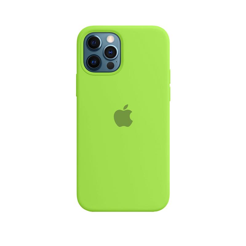 Case Capinha de Silicone Verde Neon para iPhone 12 e 12 Pro