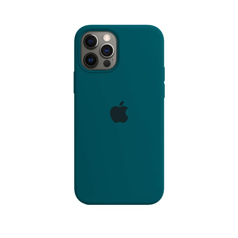 Case Capinha de Silicone Verde Pacífico para iPhone 12 e 12 Pro