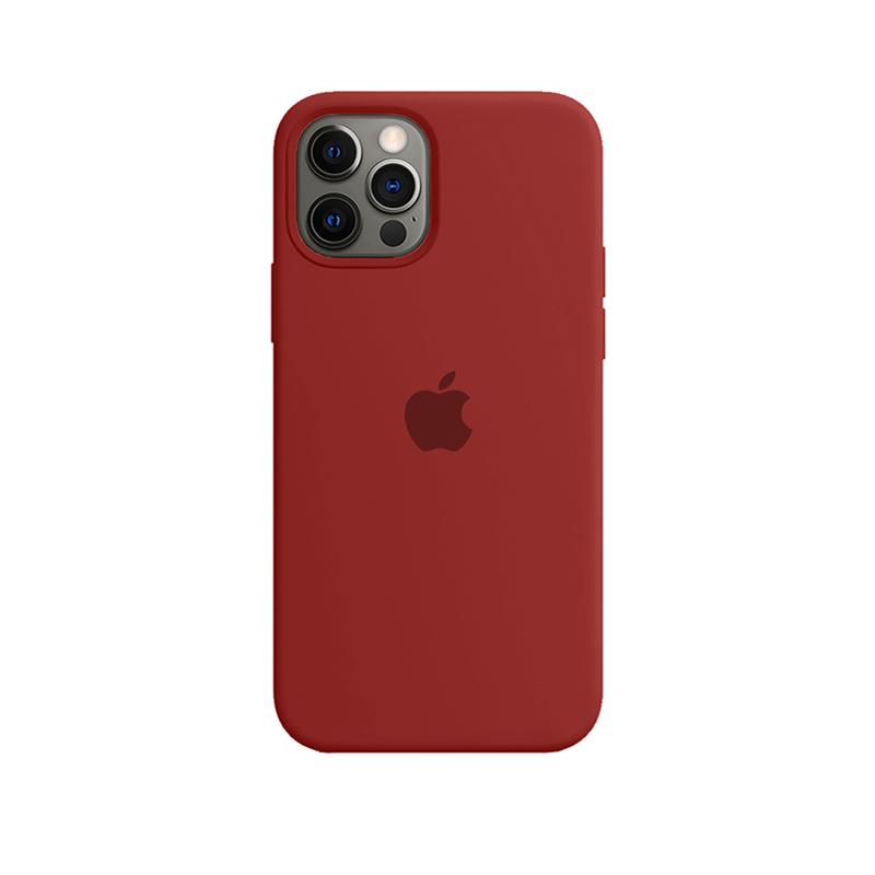 Case Capinha de Silicone Vermelho Escuro para iPhone 12 e 12 Pro