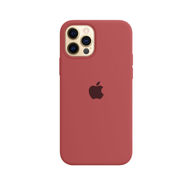 Case Capinha de Silicone Vermelho Fosco para iPhone 12 e 12 Pro