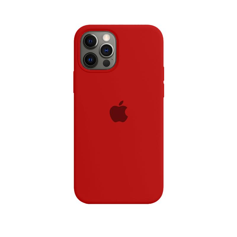 Case Capinha de Silicone Vermelha para iPhone 12 e 12 Pro