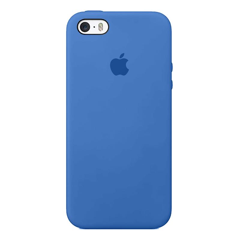 Case Capinha de Silicone Azul Royal para iPhone 5, 5s, 5c e SE 1 Geração