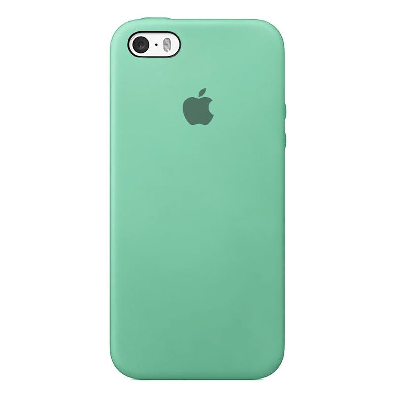 Case Capinha de Silicone Azul Tiffany para iPhone 5, 5s, 5c e SE 1 Geração