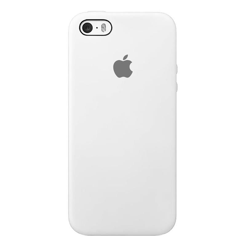 Case Capinha de Silicone Branca para iPhone 5, 5s, 5c e SE 1 Geração