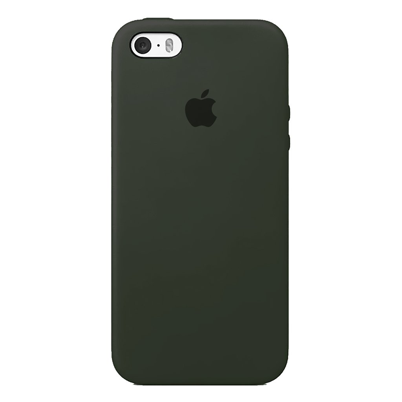 Case Capinha de Silicone Cinza Dark para iPhone 5, 5s, 5c e SE 1 Geração