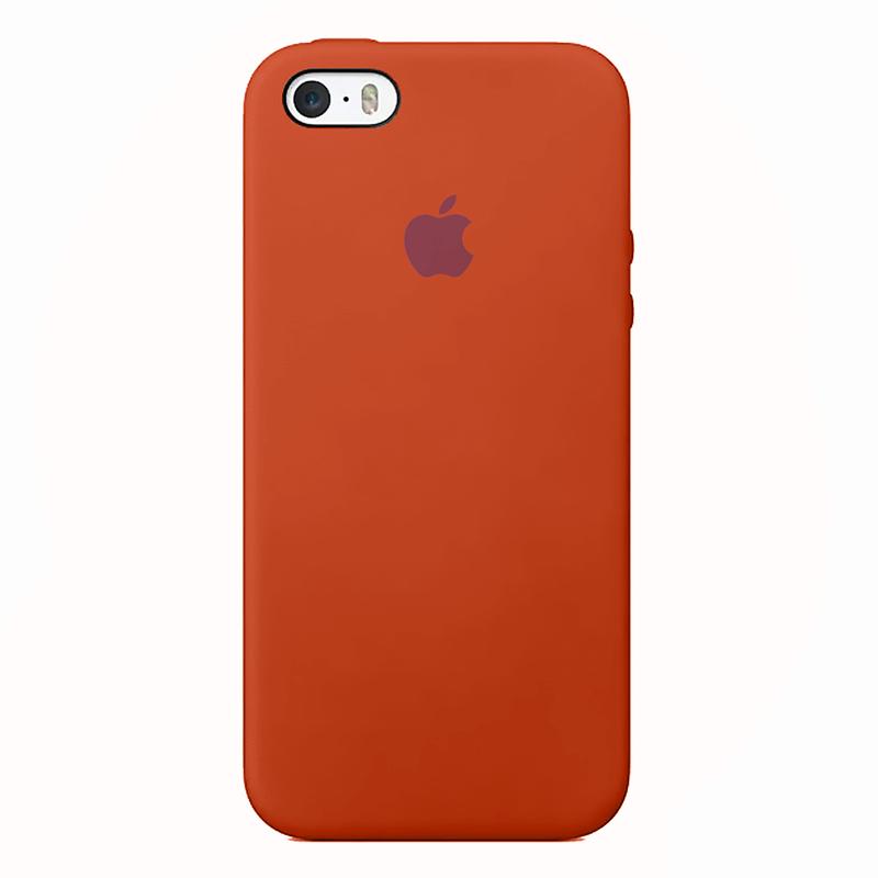 Case Capinha de Silicone Laranja Neon para iPhone 5, 5s, 5c e SE 1 Geração