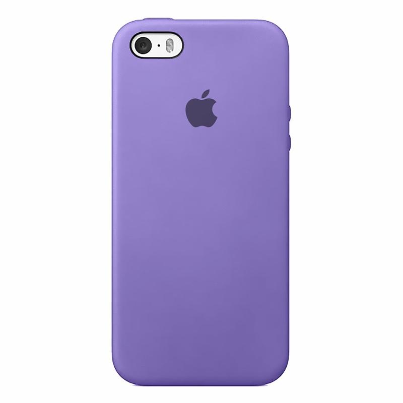 Case Capinha de Silicone Lilás para iPhone 5, 5s, 5c e SE 1 Geração
