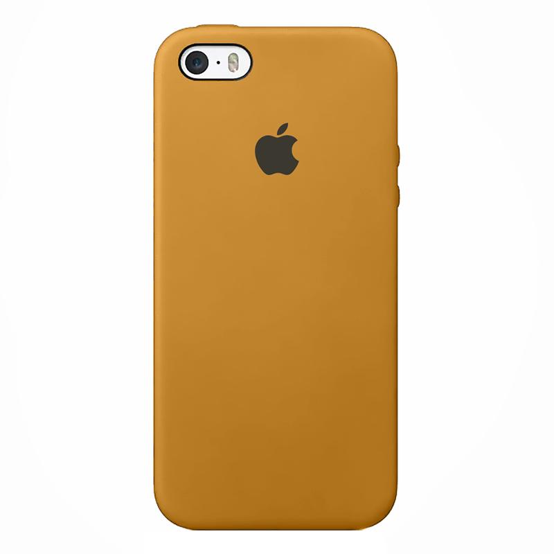 Case Capinha de Silicone Mostarda para iPhone 5, 5s, 5c e SE 1 Geração