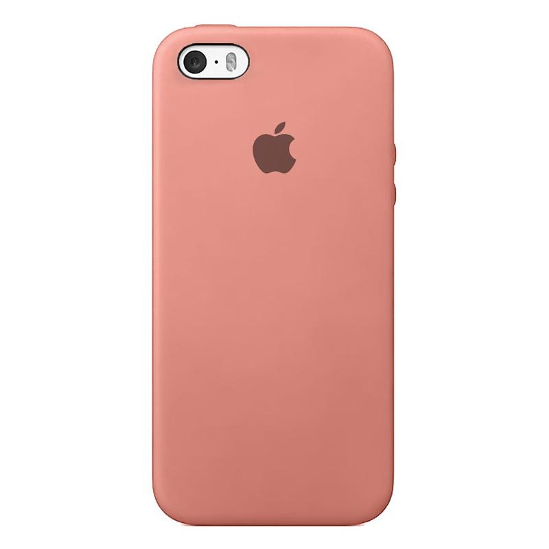 Case Capinha de Silicone Rosa para iPhone 5, 5s, 5c e SE 1 Geração