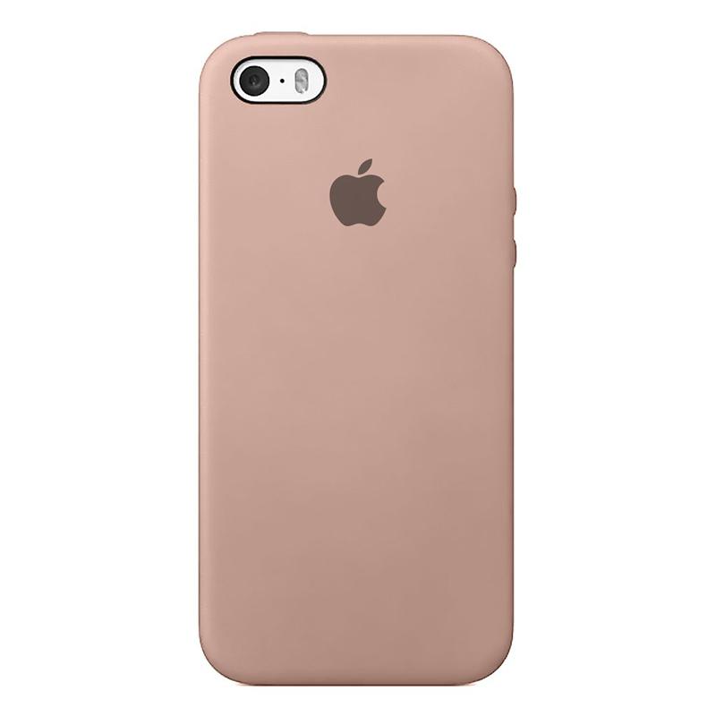 Case Capinha de Silicone Rosa Areia para iPhone 5, 5s, 5c e SE 1 Geração