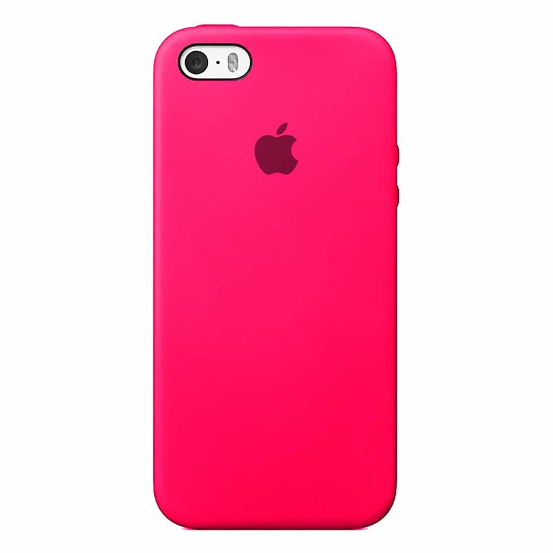Case Capinha de Silicone Rosa Pink para iPhone 5, 5s, 5c e SE 1 Geração