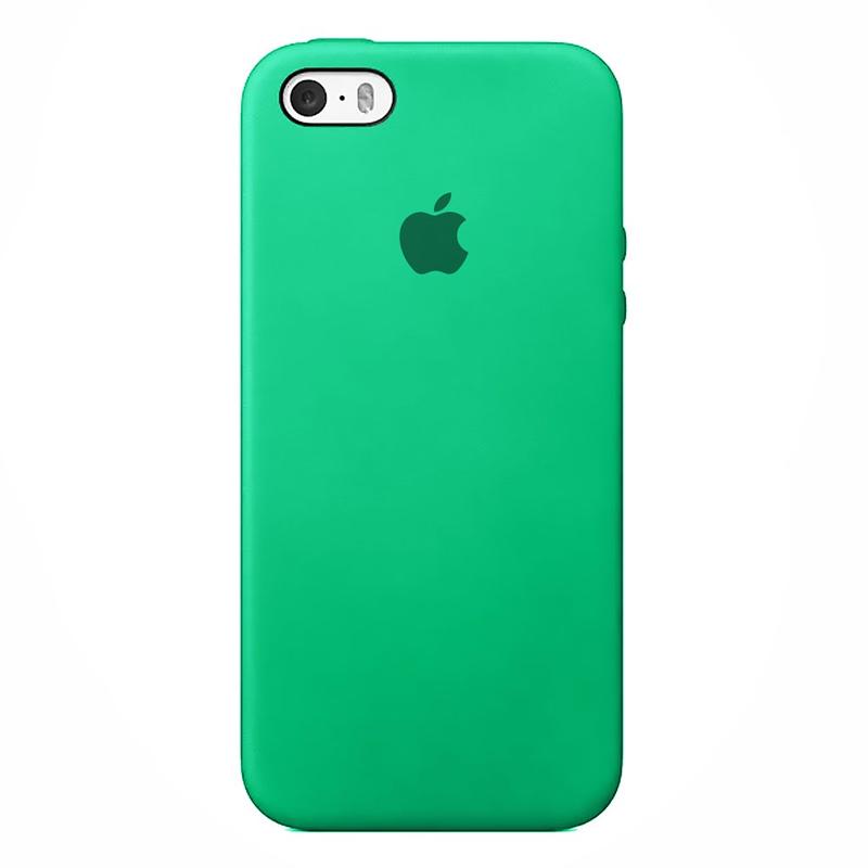 Case Capinha de Silicone Verde Água para iPhone 5, 5s, 5c e SE 1 Geração