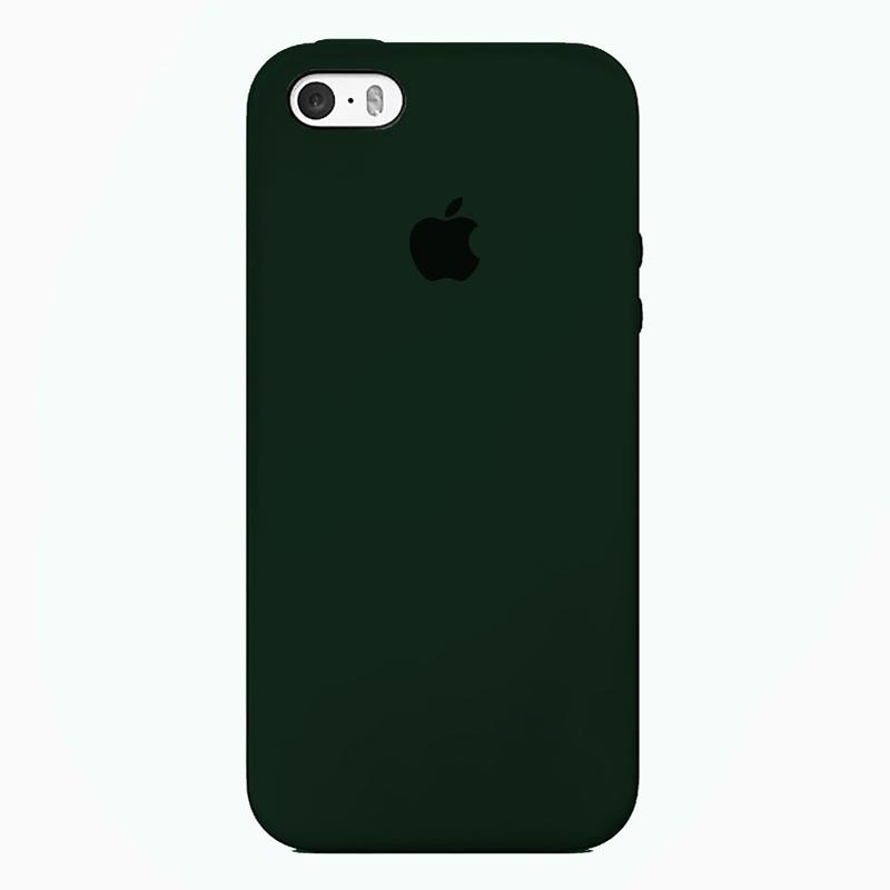 Case Capinha de Silicone Verde Floresta para iPhone 5, 5s, 5c e SE 1 Geração