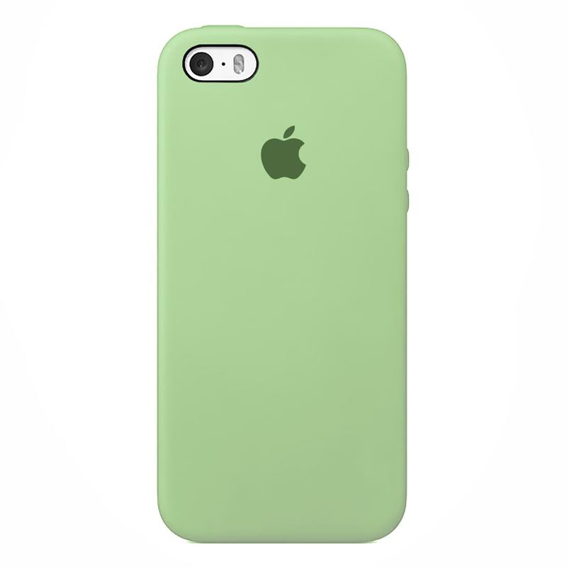 Case Capinha de Silicone Verde Pistache para iPhone 5, 5s, 5c e SE 1 Geração