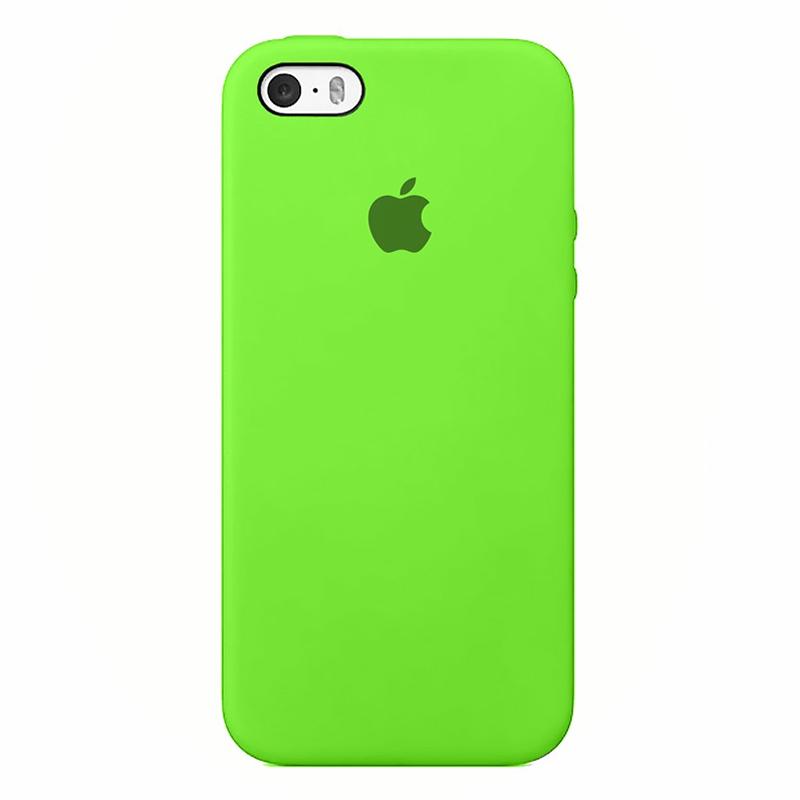 Case Capinha de Silicone Verde para iPhone 5, 5s, 5c e SE 1 Geração