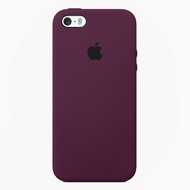Case Capinha de Silicone Vermelho Bordo para iPhone 5, 5s, 5c e SE 1 Geração
