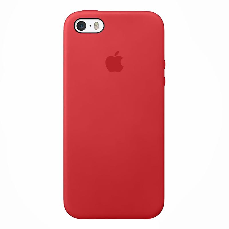 Case Capinha de Silicone Vermelho Fosco para iPhone 5, 5s, 5c e SE 1 Geração