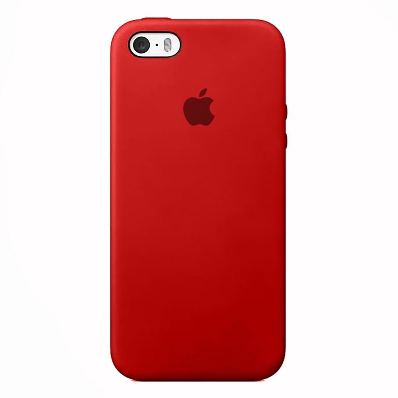 Case Capinha de Silicone Vermelha para iPhone 5, 5s, 5c e SE 1 Geração