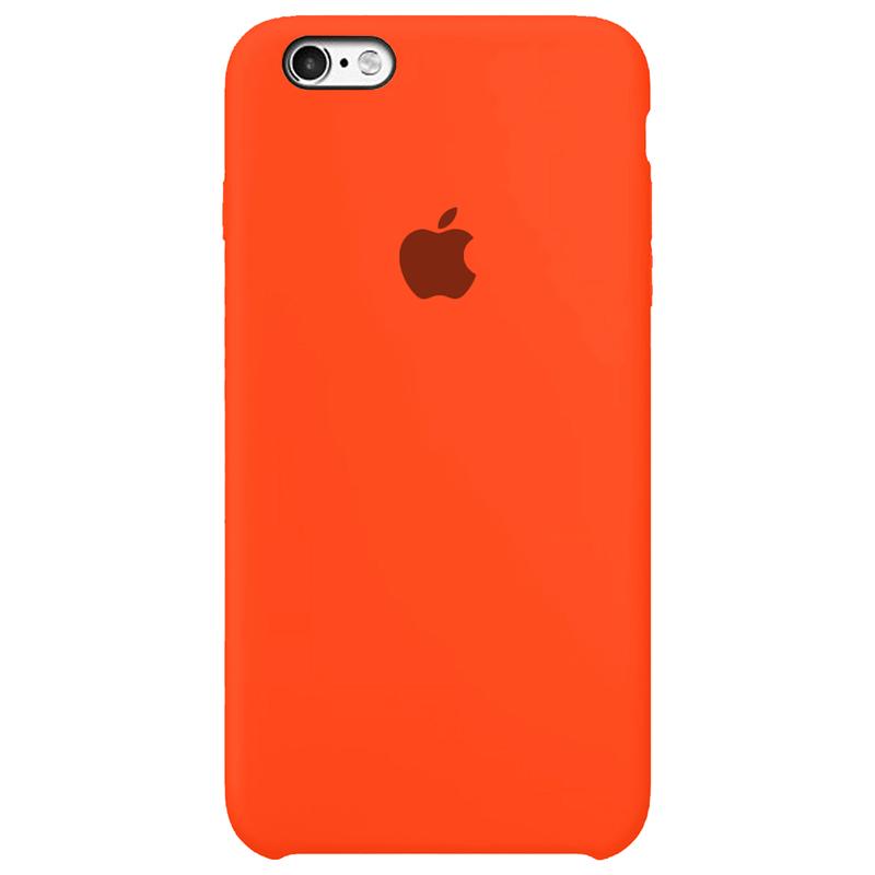 Case Capinha Laranja Neon para iPhone 6 e 6s de Silicone