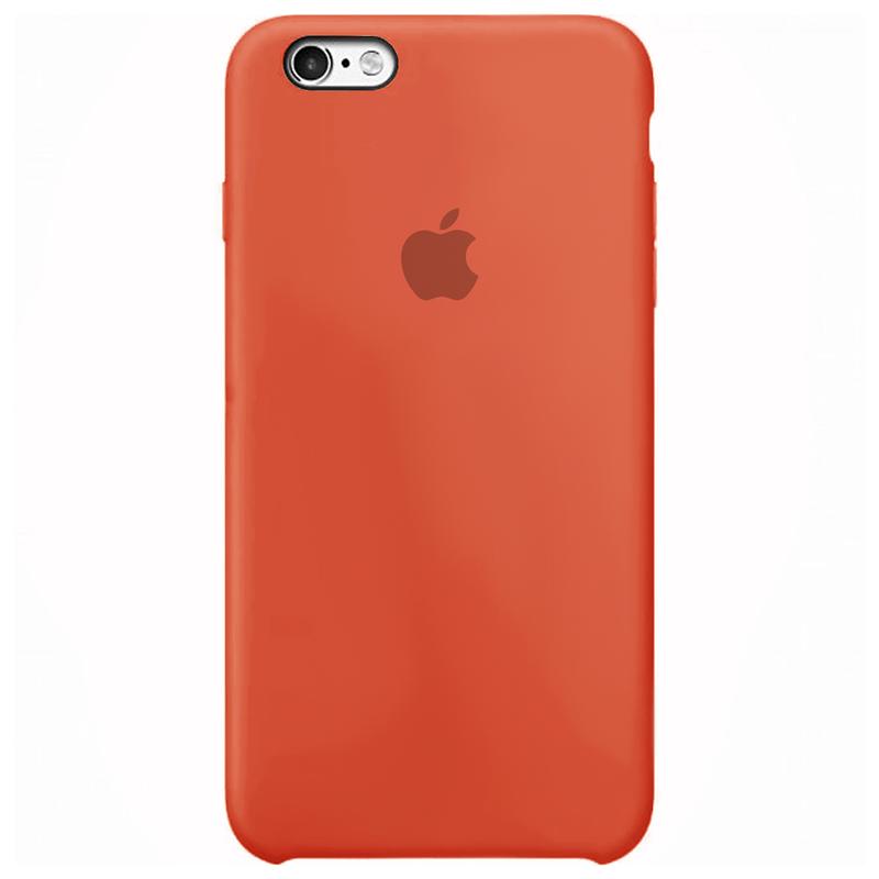 Case Capinha Laranja para iPhone 6 e 6s de Silicone