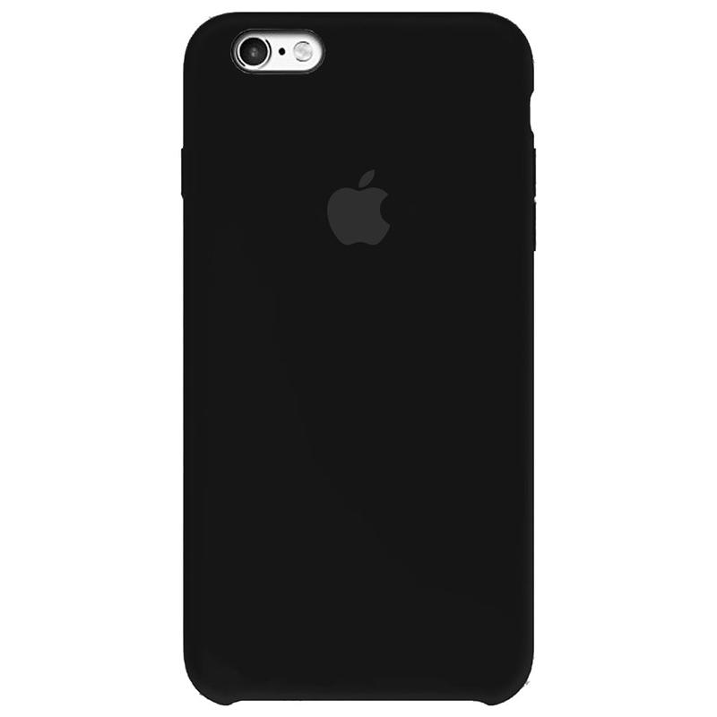 Case Capinha Preta para iPhone 6 e 6s de Silicone
