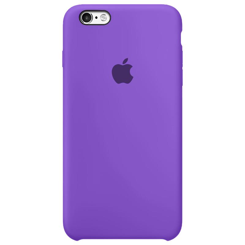 Case Capinha Roxo Claro para iPhone 6 e 6s de Silicone