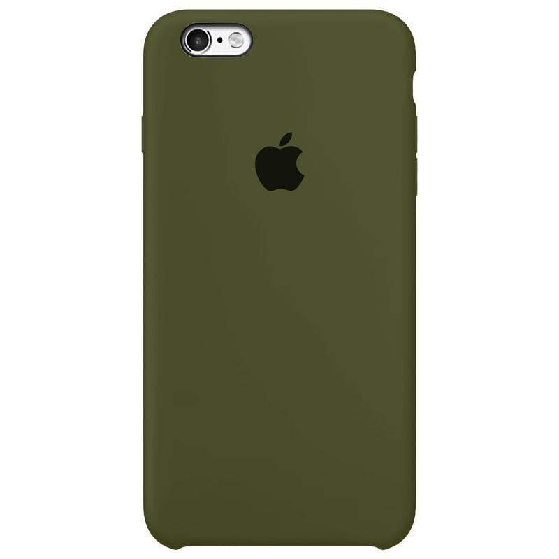 Case Capinha Verde Militar para iPhone 6 e 6s de Silicone