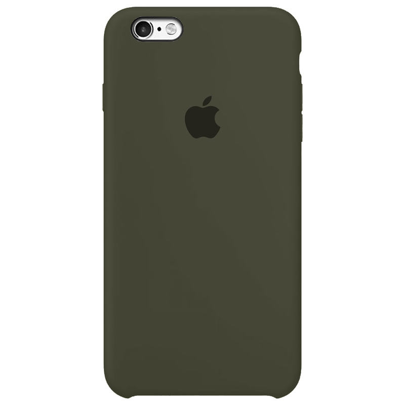 Case Capinha Verde Musgo para iPhone 6 e 6s de Silicone
