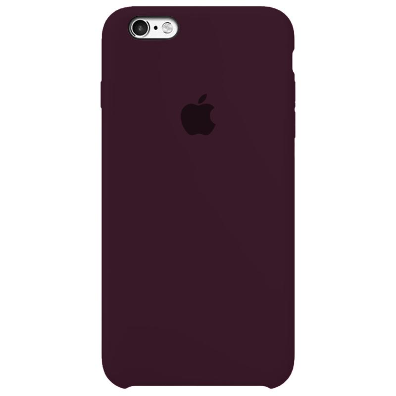 Case Capinha Vermelho Bordô para iPhone 6 e 6s de Silicone