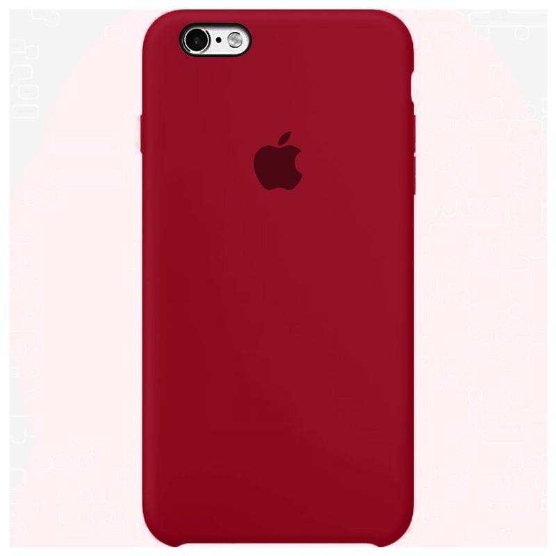 Case Capinha Vinho para iPhone 6 e 6s de Silicone