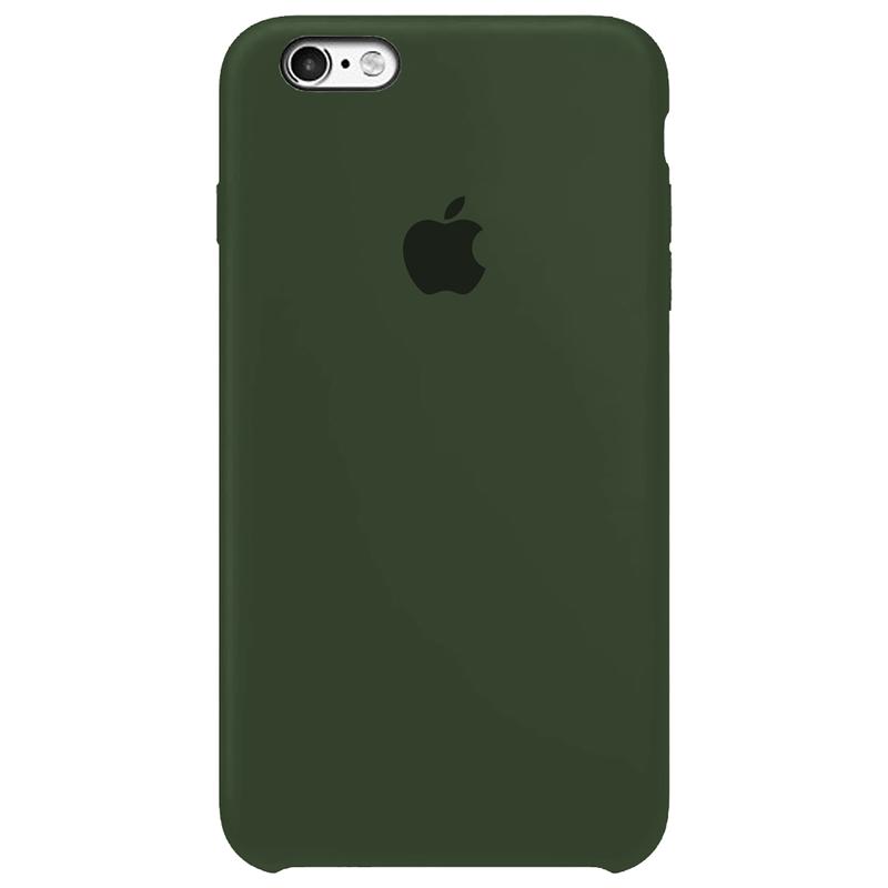 Case Capinha Verde Escuro para iPhone 6 Plus e 6s Plus de Silicone