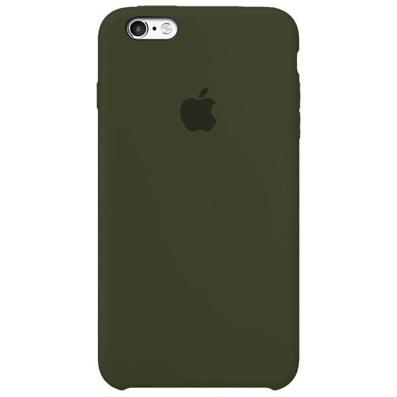 Case Capinha Verde Musgo para iPhone 6 Plus e 6s Plus de Silicone