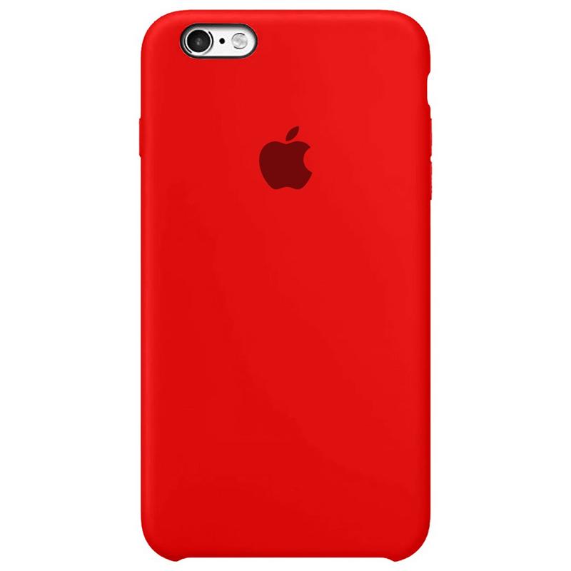 Case Capinha Vermelha para iPhone 6 Plus e 6s Plus de Silicone