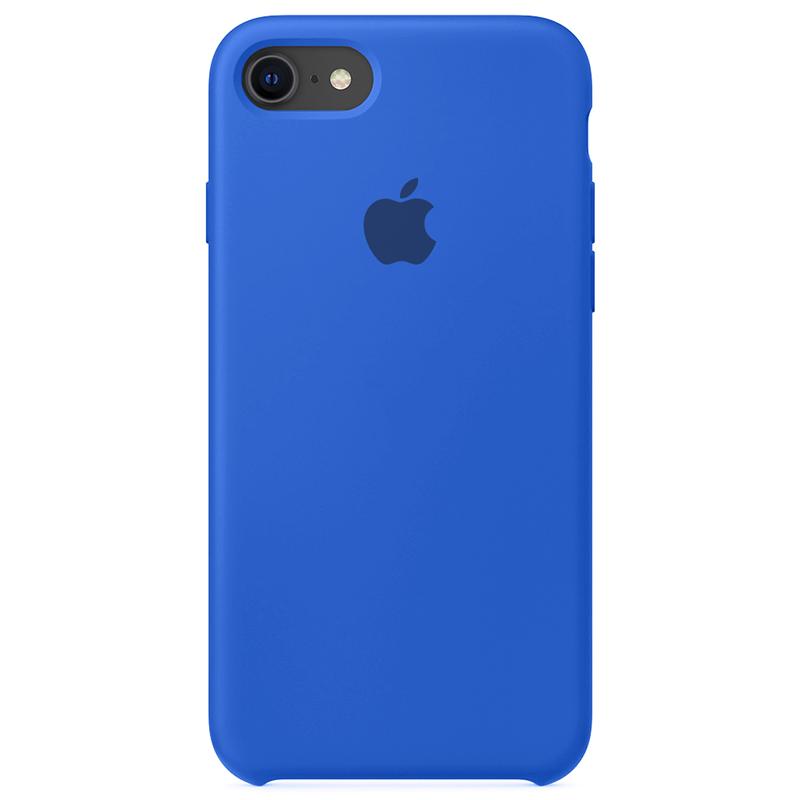 Case Capinha Azul Royal para iPhone 7, 8 e SE 2º Geração de Silicone