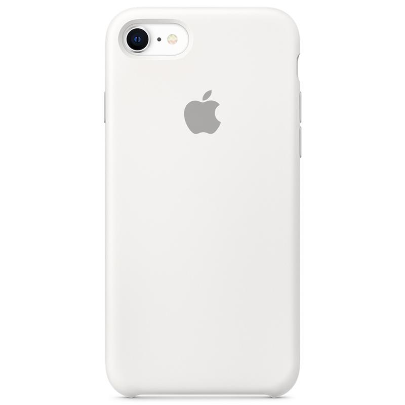 Case Capinha Branca para iPhone 7, 8 e SE 2º Geração de Silicone