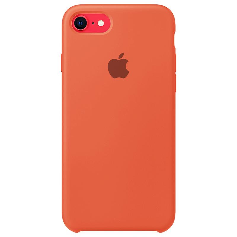 Case Capinha Laranja para iPhone 7, 8 e SE 2º Geração de Silicone