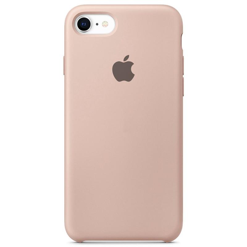 Case Capinha Rosa Areia para iPhone 7, 8 e SE 2º Geração de Silicone