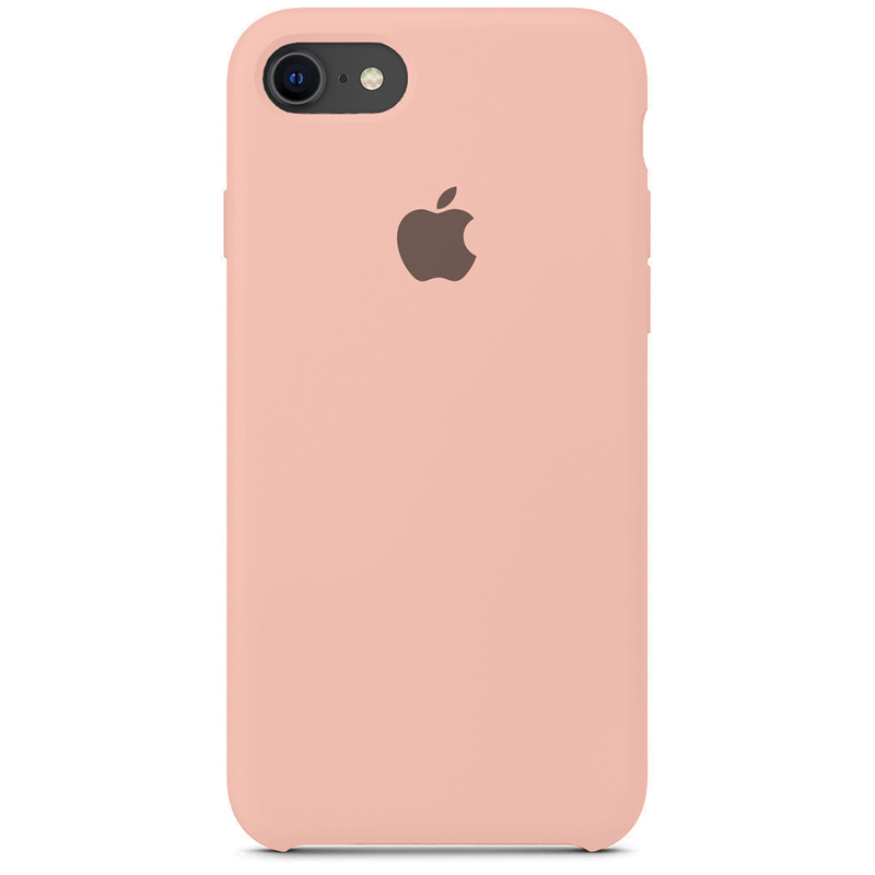Case Capinha Rosa Creme para iPhone 7, 8 e SE 2º Geração de Silicone