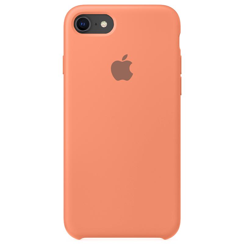 Case Capinha Rosa Pêssego para iPhone 7, 8 e SE 2º Geração de Silicone